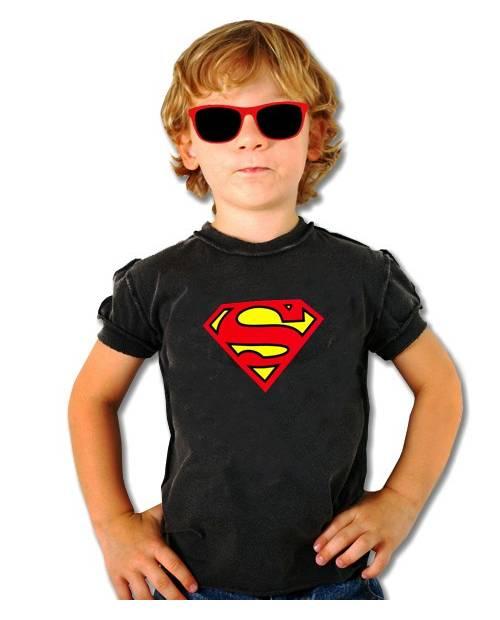T SHIRT EQUALIZER SUPERMAN ENFANT NOIR