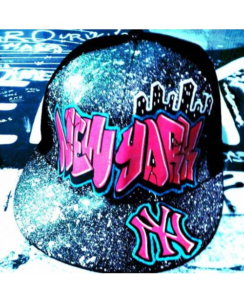 Casquette NY Rose personnalisable
