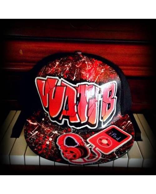 Casquette Wati B Graff Rouge x Beats By Dre x Apple Ipod