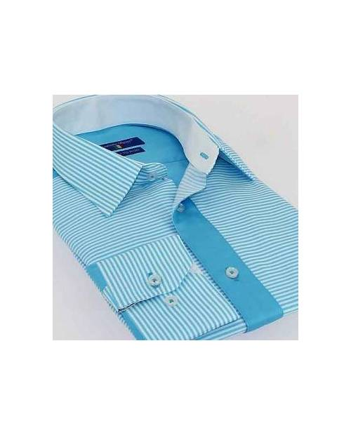 Chemise Homme Italienne Turquoise