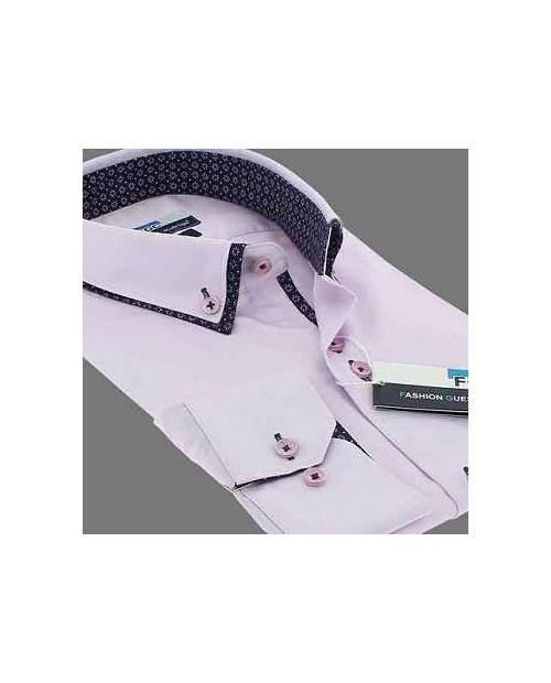 Chemise Homme Double Col Rose