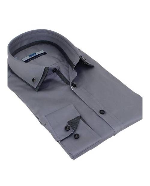 Chemise Costume Homme Grise
