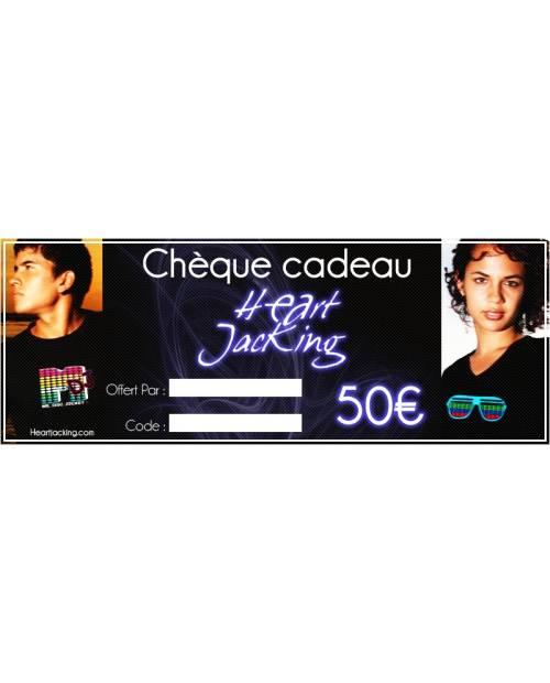 Chèque cadeaux 50euros