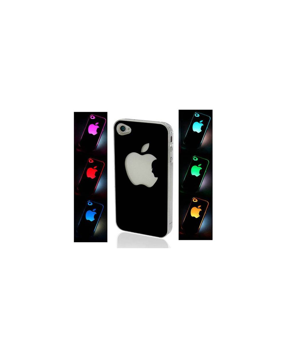 coque lumineuse pour iphone 4 ou 5 la pomme d 39 apple s 39 illumine heart jacking. Black Bedroom Furniture Sets. Home Design Ideas