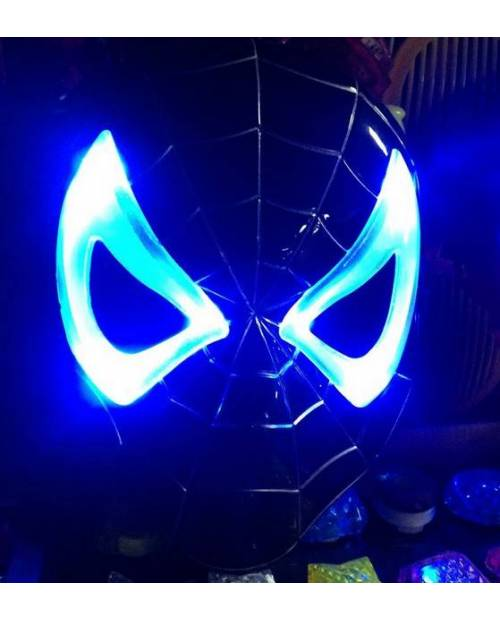 Masque Spiderman Noir Led