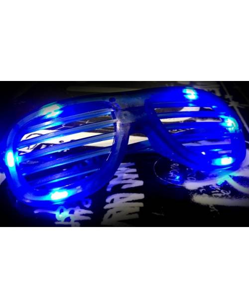 Bright Blue LED Glasses