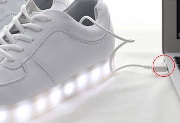 chaussures led basket lumineuse