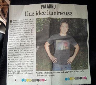 Article du Dauphiné Libéré sur le créateur de Heart Jacking