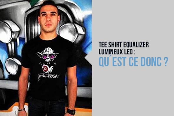 Tee-shirt equalizer lumineux led