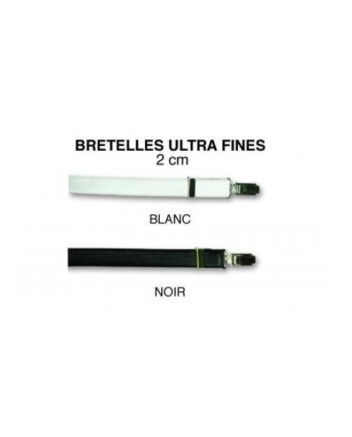 Bretelles noires ou blanches