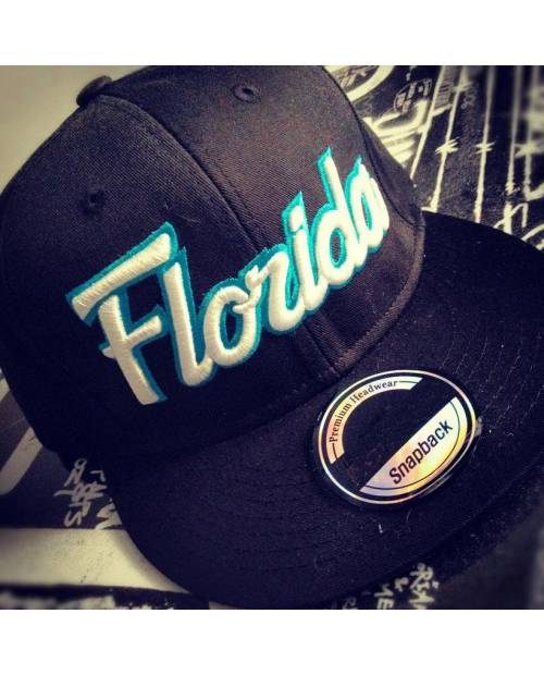 Casquette Snapback Florida Orange Bleu