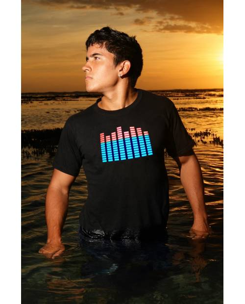 "Tee Shirt Lumineux ""House Music"" EqualizerⓇ"
