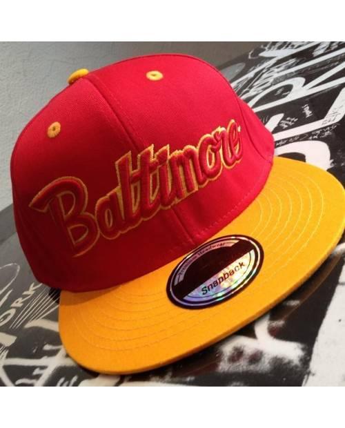 Casquette Baltimore Noir Et Rouge