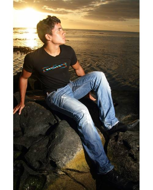 T SHIRT H3 LUMINEUX EQUALIZEUR LED ELECTROLUMINESCENT