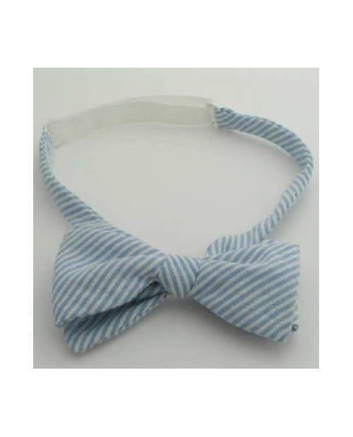 A Blue Stripe Bow Tie
