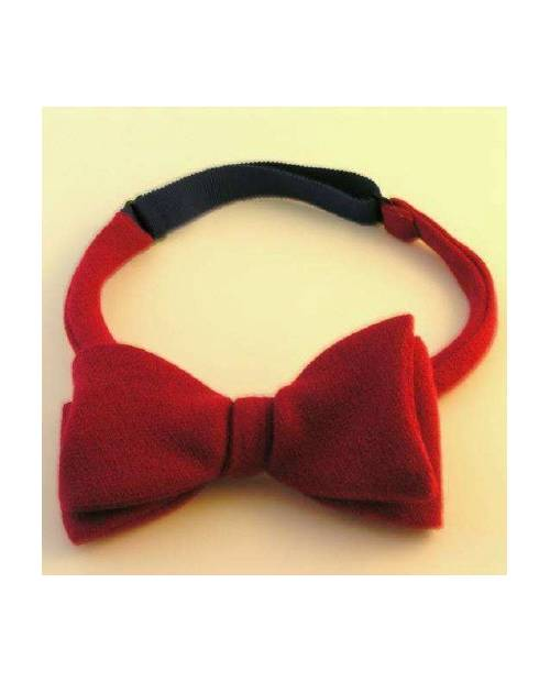 Bow Tie In Bright Red Velvet