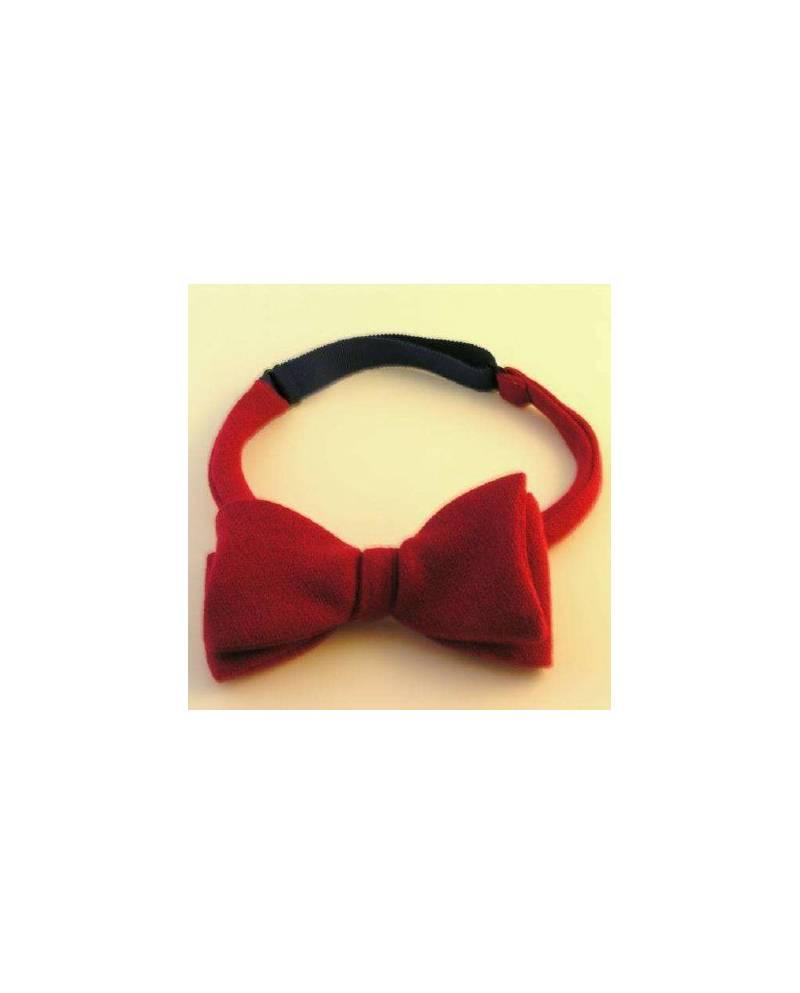 Bow Tie In Bright Red Velvet