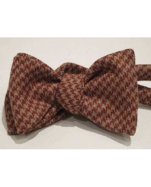 Noeud Papillon Vichy Marron Et Gris