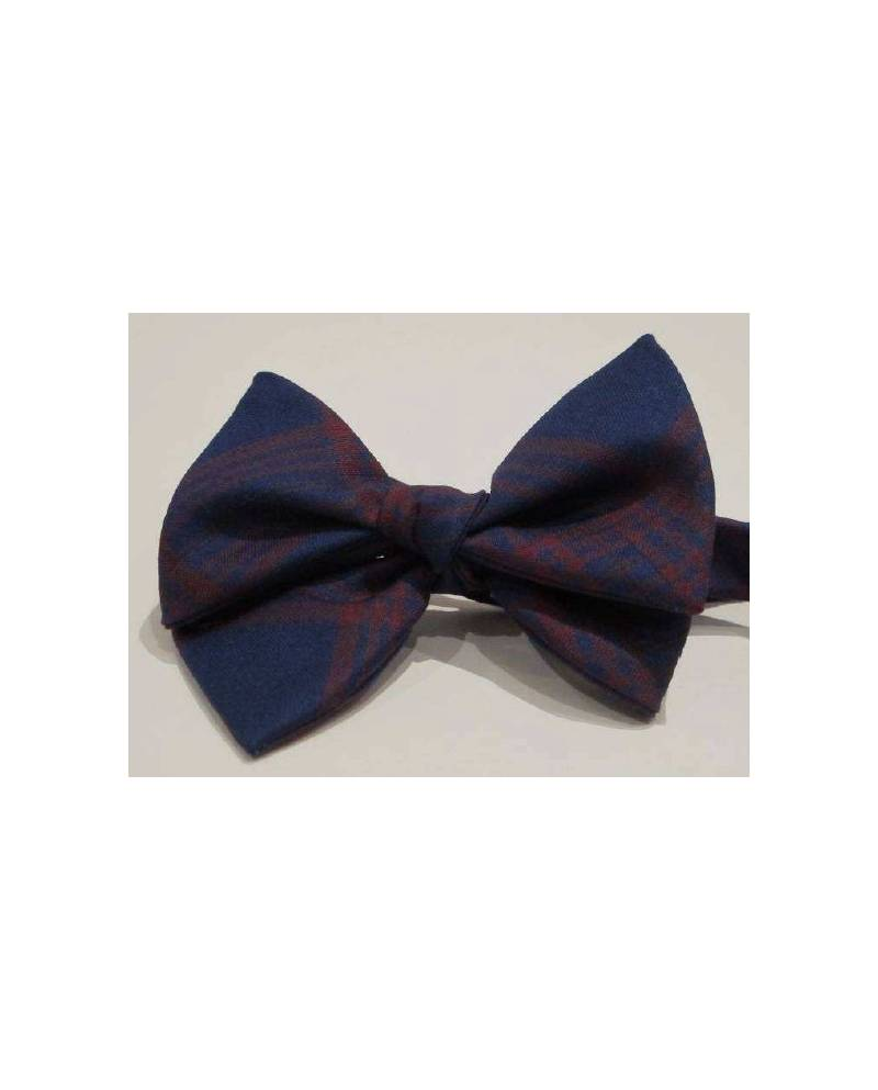Blue And Red Bow Tie
