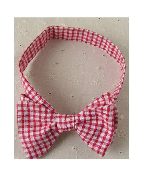 Bow Tie A Red And White Tiles