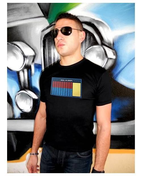 """T Shirt Avec Vrai Or 24K Lumineux Led """"Vinyl"""""""