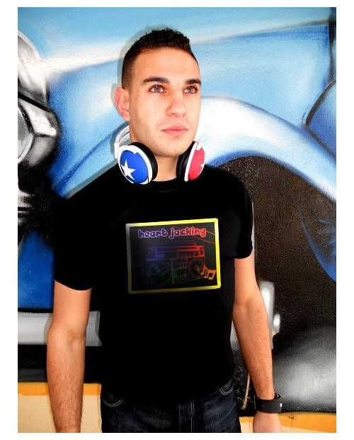 "T Shirt Led Vrai Or 24K ""Ghetto Blaster"""