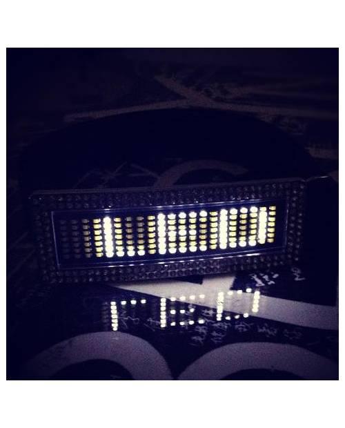 CEINTURE STRASS LED BLANC, CEINTURE LUMINEUSE LED