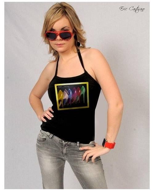 "T Shirt Lumineux Or Veritable 24K ""Stilleto"""