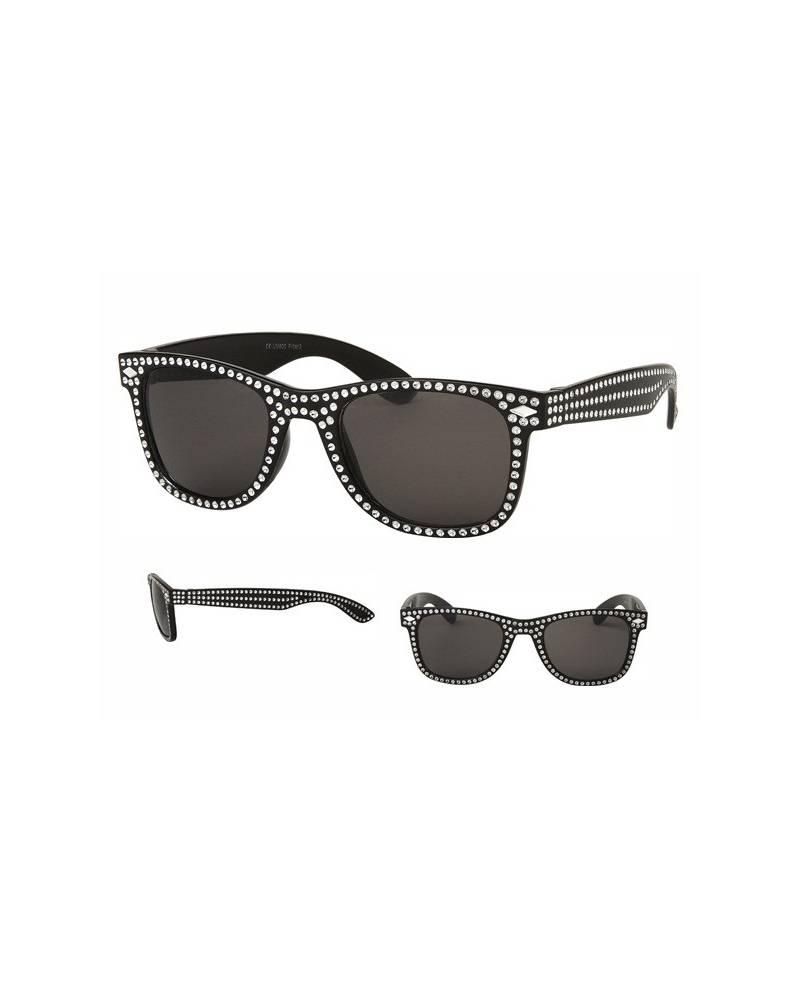 Black Rhinestone Glasses