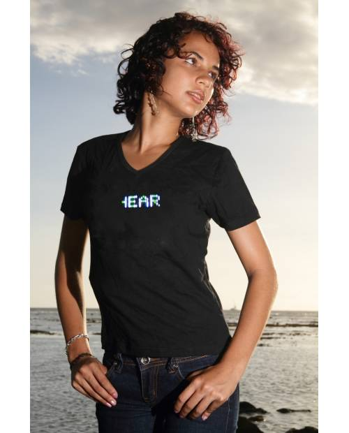 TEE SHIRT LUMINEUX LED MULTICOLOR FEMME