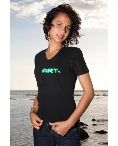 Tee Shirt Bright Green Led Woman