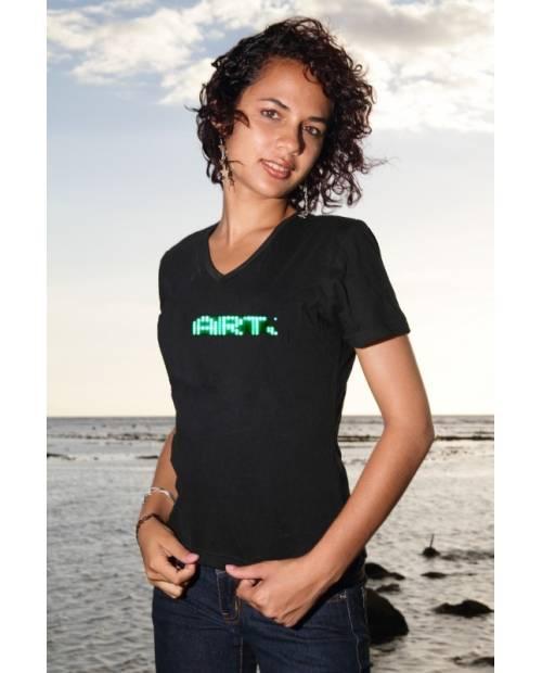 Tee Shirt Lumineux Led Vert Femme