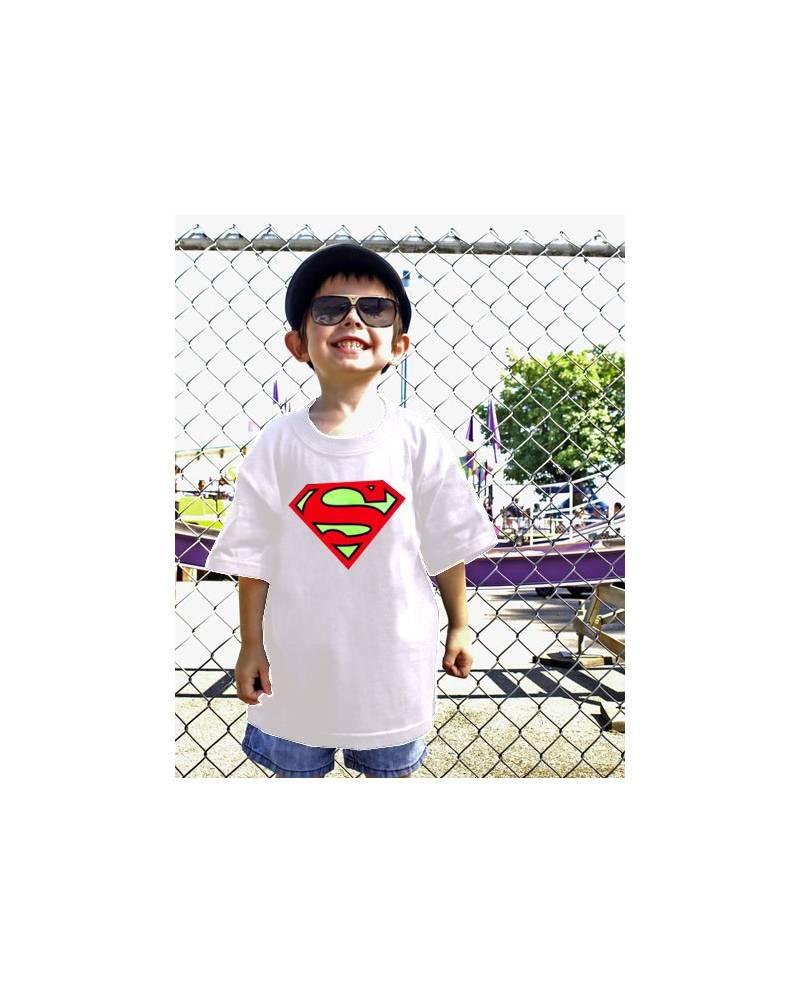 T SHIRT EQUALIZER SUPERMAN ENFANT BLANC