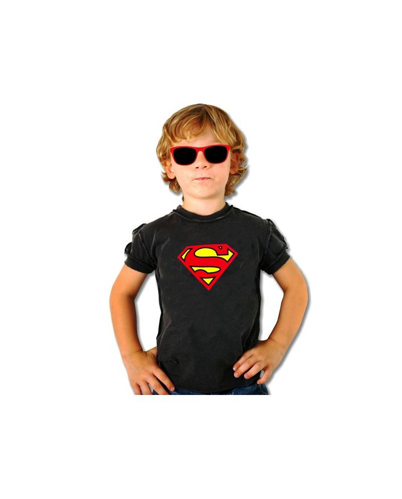T SHIRT EQUALIZER SUPERMAN ENFANT NOIR
