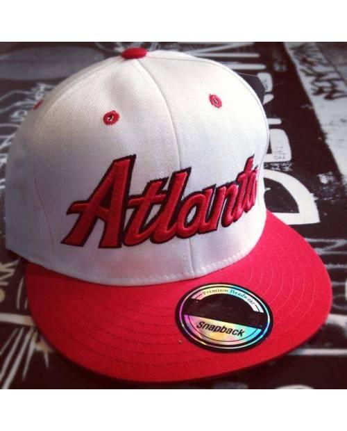 Snapback Atlanta blanc rouge