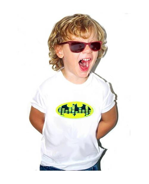 T SHIRT EQUALIZER BATMAN BLANC ENFANT