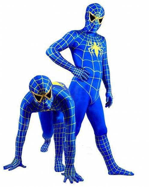 Costume Spiderman® Bleu Enfant Adulte