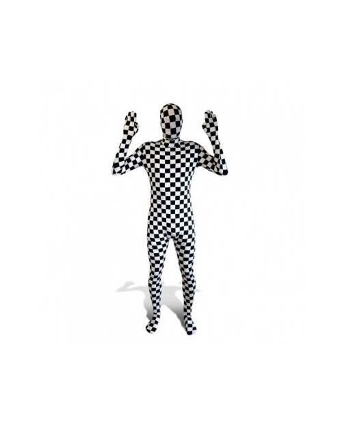 Déguisement Morphsuit Damier Noir Et Blanc
