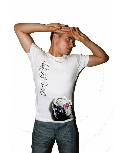 TEE SHIRT MARILYN MONROE USA HOMME