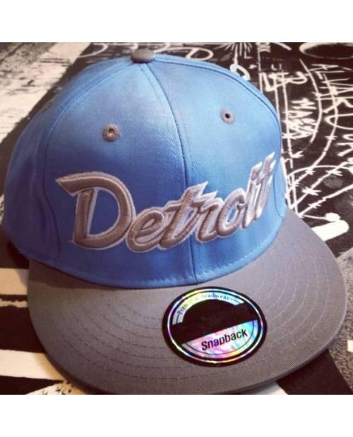 Casquettes Brodée Detroit Bleu Noir