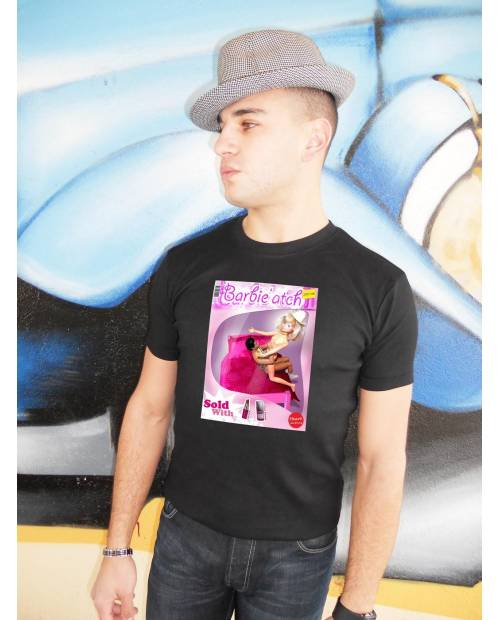 Tee Shirt Barbie'atch Homme Noir