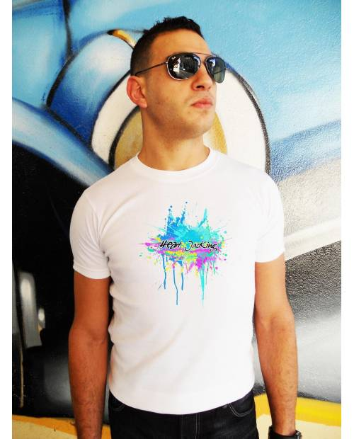 Tee Shirt Splash Blanc Homme