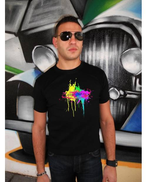 Tee Shirt Splash Noir Homme