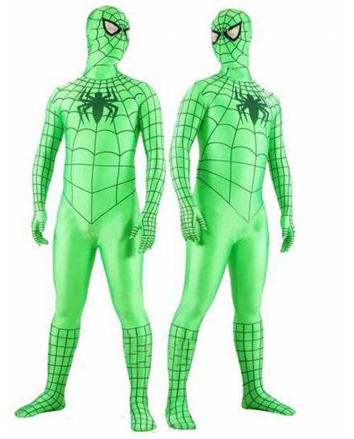 Spiderman Morphsuits Green