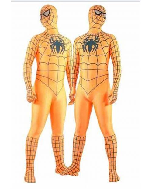 Déguisement Spiderman® Orange Adulte