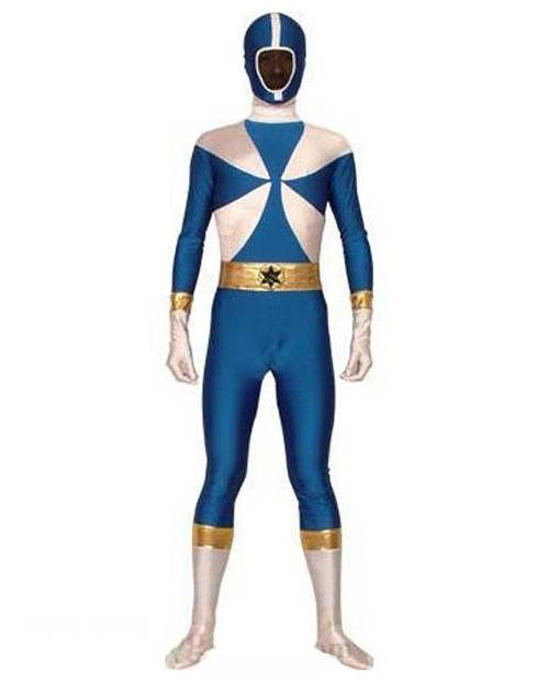 Morphsuit Power Ranger Bleu
