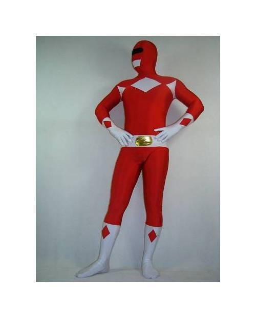 Déguisement Morphsuit Power Ranger Rouge