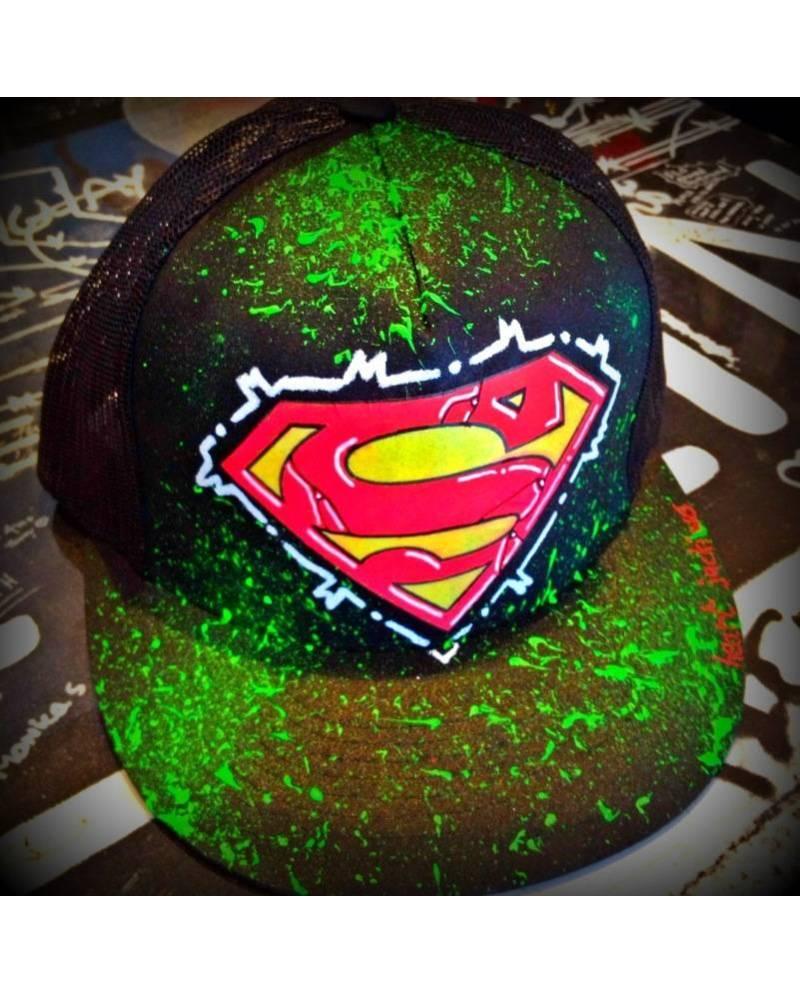 A cap Superman Black Light Effects