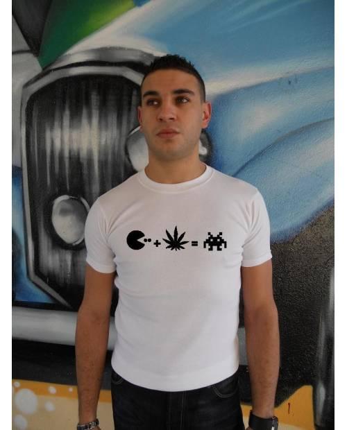 Tee Shirt Pacman Heart JacKing Noir/Blanc