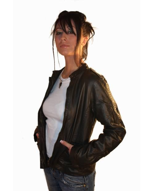 Veste Noire Heart Jacking avec épaulettes